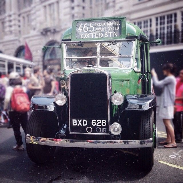 From yesterday's #BusCavalcade in #RegentStreet. This is one of 76 Leyland Cubs bought by London Transport removed from Service in 1953. and initially used on fruit picking farms for staff transport. In service 1935-1953 #YearOfTheBus - Ari55