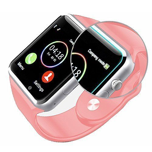 Smart Watch Cell Phone iPhone Android Smartphones HD Camera Bluetooth Pink New #SmartWristWatch