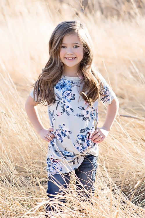Top, Floral Top, Twist Top, Short Sleeve Top, Ryleigh Rue Clothing, Kids Boutique, Kids Clothing, Kids Fashion, Fashion, Online Shopping, Online Boutique
