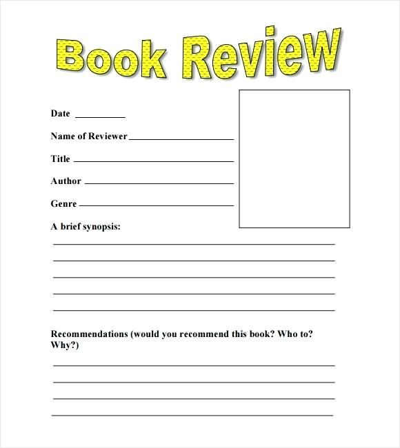 Image Result For Example Of Book Review Book Review Template