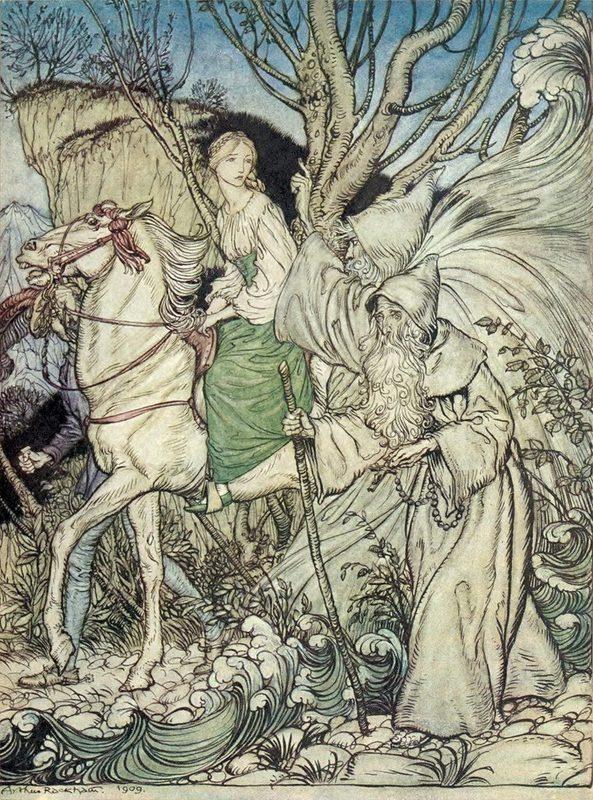 Arthur Rackham Undine By Friedrich De La Motte Fouque Arthur Rackham Fairytale Art Illustration Art