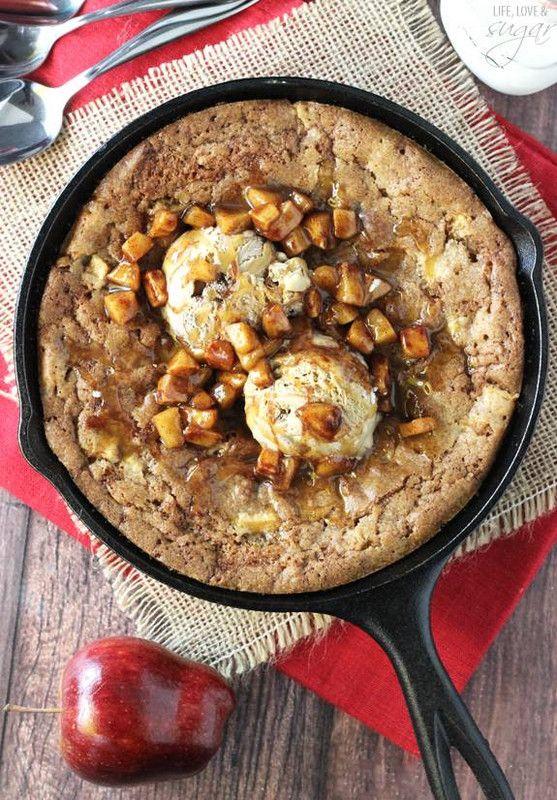 cast iron skillet recipes Apple Cinnamon Skillet Blondie