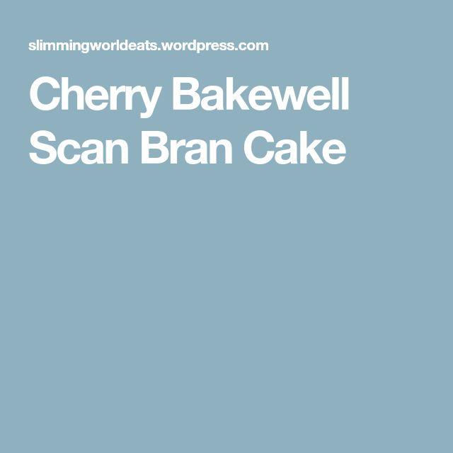 Cherry Bakewell Scan Bran Cake