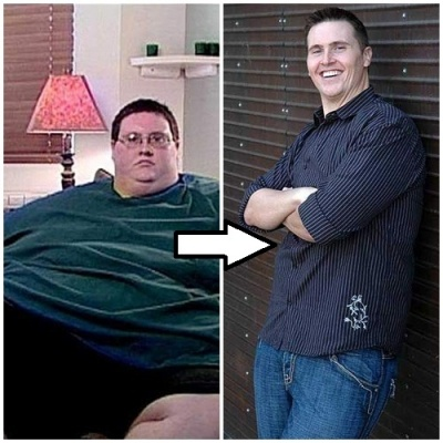 David Smith. Before: 650 lbs. Now: 280. He lost 400 lbs on his own without gastric bypass. It can be done, and this man is amazing.