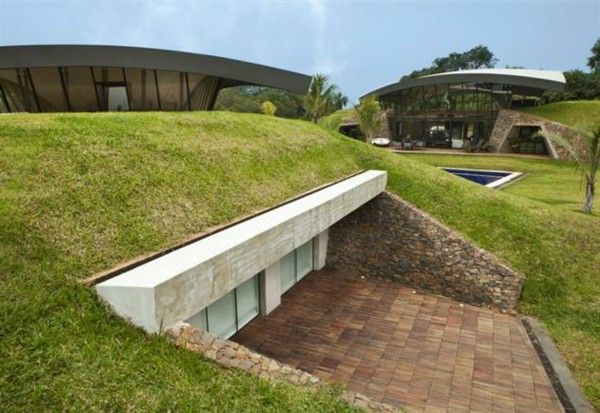 Hillside homes harmonious design