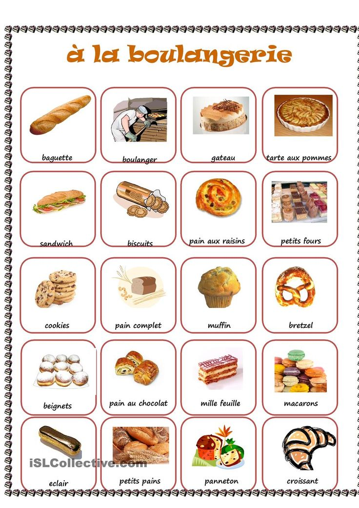 BOULANGERIE #fle #fleasie #learn french
