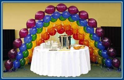 Different kind of balloon arch