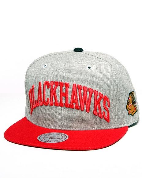 Mitchell & Ness Men Chicago Blackhawks Nhl Vintage Basic Arch Grey 2T