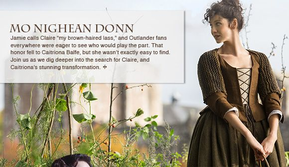 Newest Outlander newsletter.  All about Claire. Latha math dhuibh, Outlanders!