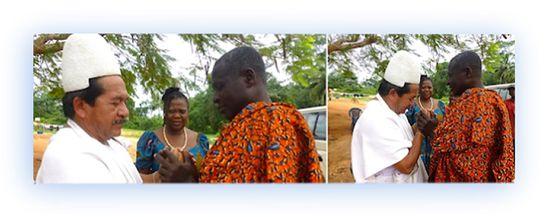 """""""He leído con detenimiento el estudio [*] del V.M THOTH MOISÉS, agradeciendo nota donde hace mención de mi viaje a Ghana en visita a la cultura Asante en África.""""  """"Mis oraciones para el V.M. THOTH MOISÉS, su Señora esposa GLORIA MARÍA familia, amigos y comunidad. Bendiciones de las Fuerzas Divinas 'YUMAN-ZAKÜ'"""".  """"Mamo ARWA VIKU"""" """"Sierra Nevada de Santa Marta."""""""