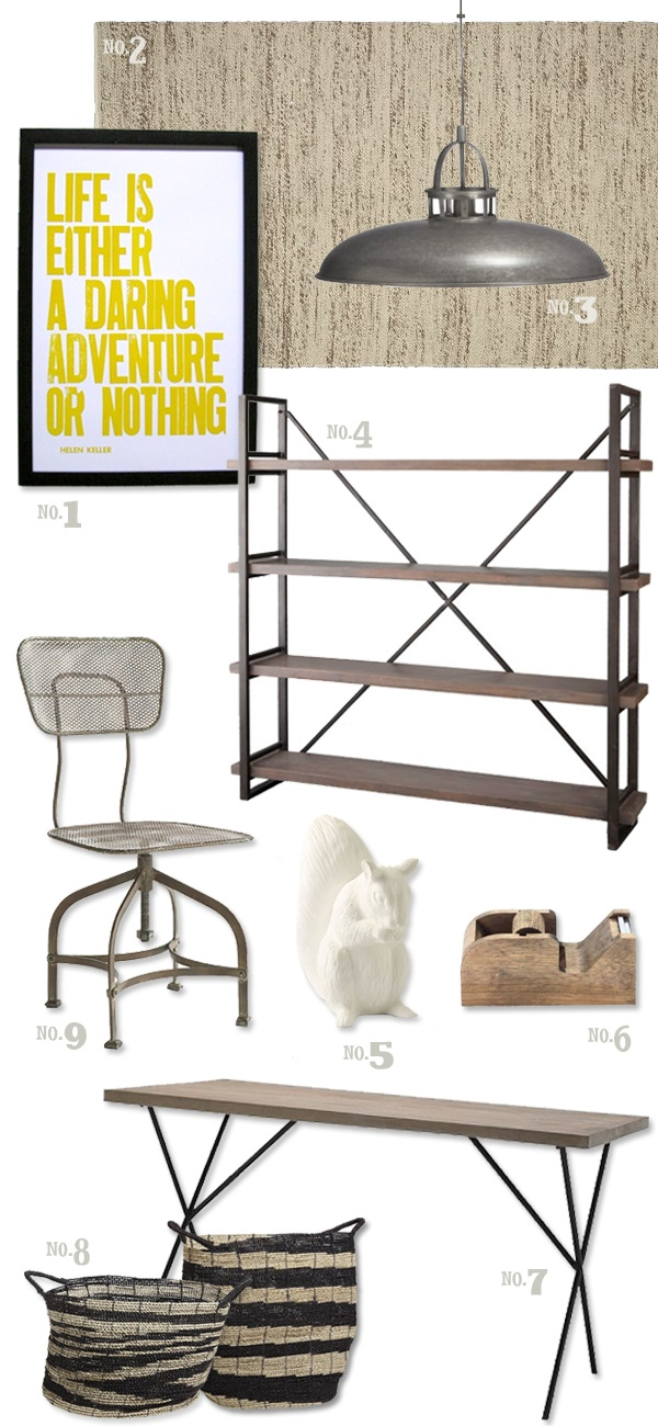 industrial office inspiration via jessicatierney.com