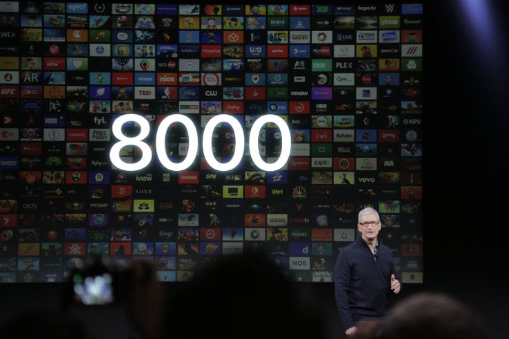 Apple TV App Store has 8000 apps 2000 of which are games At the Apple press conference this afternoon Apple CEO Tim Cook gave a brief update on the state of the Apple TV app ecosystem. Today the app store has grown to include 8000 apps the exec said 2000 of which are games. A year ago the store had just 1000 apps which indicatessteady if not remarkable growth for the Apple TV app store as well as developer interest in creating games for the living room device.  However 8000 apps is nowhere…