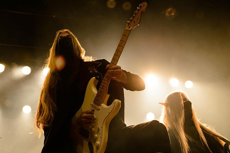 Twilight Force ⚫ Photo from Byscenen FB page ⚫ Trondheim 2016 ⚫ #TwilightForce #music #metal #concert #gig #musician #Lynd #Aerendir #guitarist #guitar #ninja #mask #bracers #elf #tabard #playing #armour #armor #leather #blond #longhair #festival #photo #fantasy #magic #cosplay #larp #man #onstage #live #show #celebrity #band #artist #performing #Sweden #Swedish #Trondheim #Byscenen #Norway