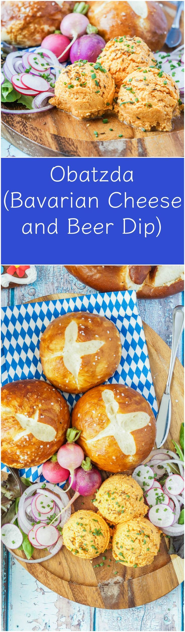 Obatzda (Bavarian Cheese and Beer Dip)  #Oktoberfest #Obatzda #Bavaria #Bavarian #German #Germany #beer #cheese #appetizer #recipe