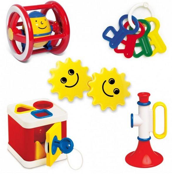 Ambi-Toys: degelijk speelgoed een assortiment van klassiekers uit het verleden. Het Ambi Toys Baby Gift set is een prachtig cadeau om te geven, maar nog leuker om te krijgen. Het is een collectie van  5 veel verkochte leukste Ambi-Toys speeltjes. De gift set zit verpakt in een leuke omdoos, en bestaat uit: Rammelsleutels, duorammelaar, Humpty Dumpty, vormenkluis en een trompet. De set is geschikt voor kinderen van 3 maanden tot 18 maanden+