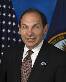 Robert Alan McDonald (born June 20, 1953) is the 8th United States Secretary of Veterans Affairs. He is the retired Chairman, President, and CEO of Procter & Gamble.[1]  On July 29, 2014, the U.S. Senate voted 97-0 to confirm McDonald as President Barack Obama's choice to succeed General Eric Shinseki as the Secretary of Veterans Affairs, and on July 30, 2014 he was sworn into office.[2][3]