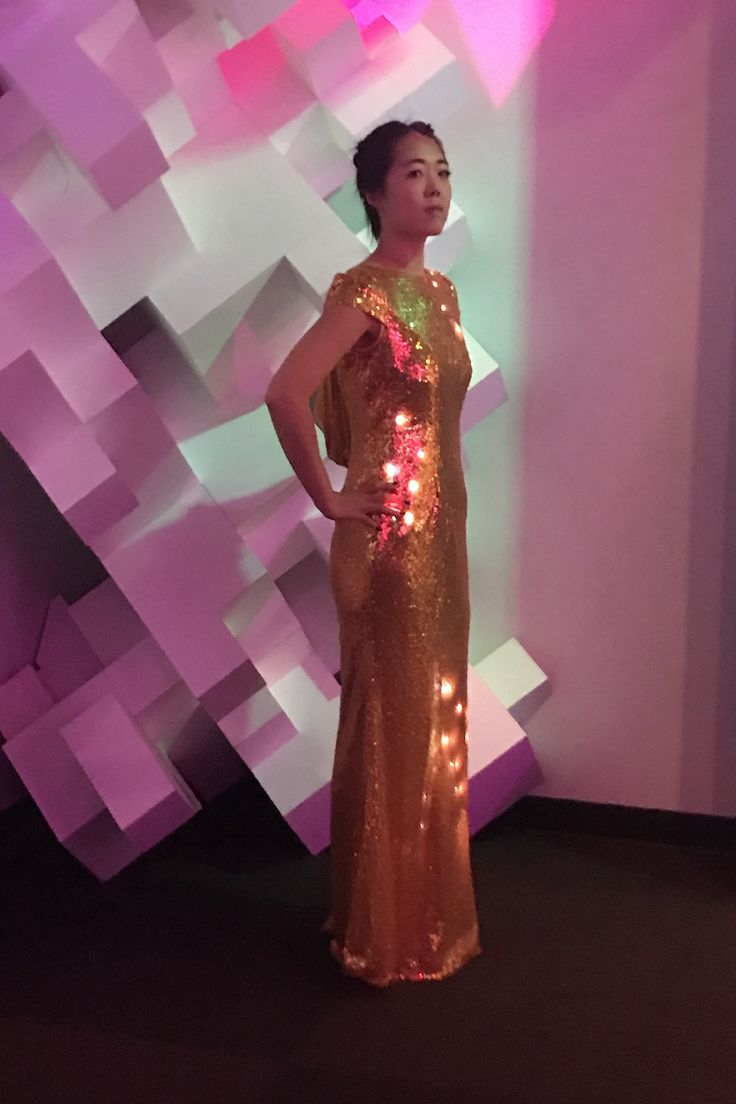 Event gowns that light up! Lumière Atelier dresses are available for custom order.