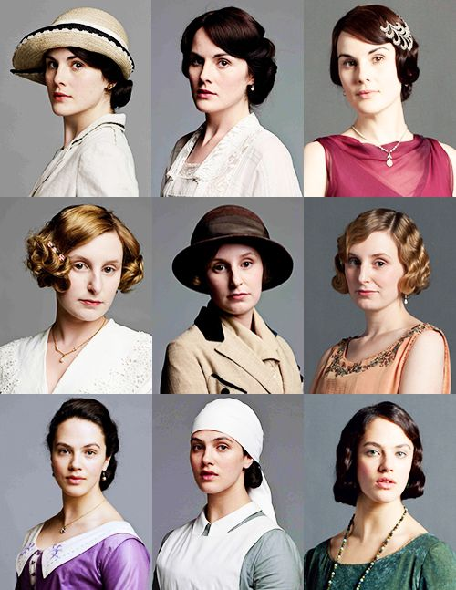 Evolution of the Crawley Ladies over the three seasons.Downton Abby