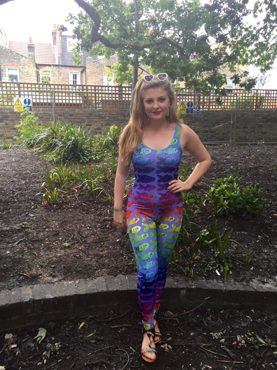 Under the Sea Rainbow Catsuit 1 in stock UK L8-10 by Danbine