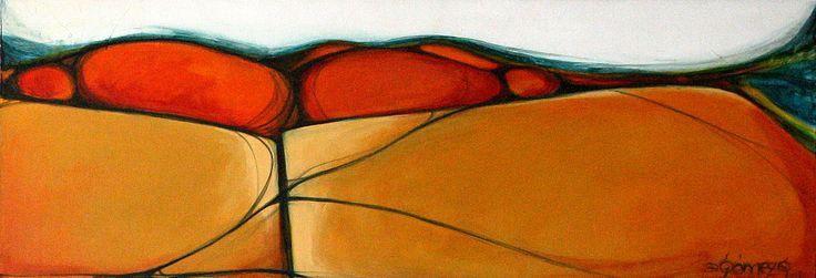 mujer paisaje, 40 cms x 1mt.  Ana Milena Gómez