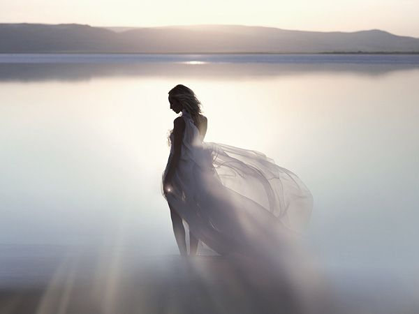 Discover Your Light--A still from a dream-like commercial directed by Bruno Aveillan for Swarovski Crystals