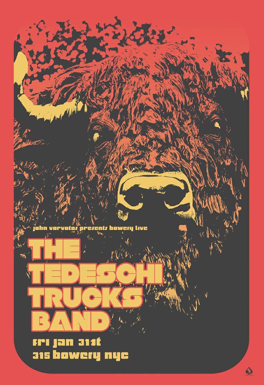 Poster design nyc - Event Poster 24 X 35 Tedeschi Trucks Band John Varvatos 315 Bowery Nyc
