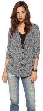 Alice + olivia Alize Drape Front Marled Cardigan on shopstyle.com