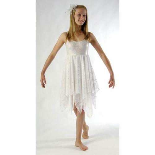 Stunning Sparkle White Lyrical Dress Dance Costume All Sizes