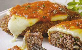 Receita de bife de carne moída à parmegiana
