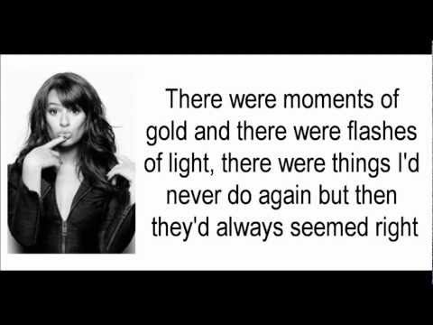 Glee - It's All Coming Back To Me Now (Lyrics) HD