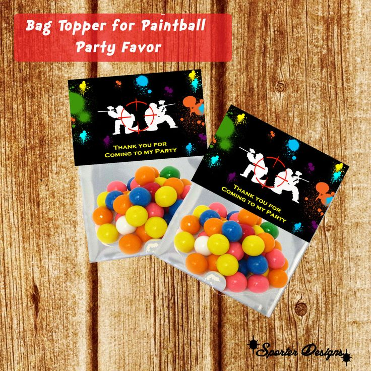 Paintball Party Bag Topper for Party Favor by SporterDesigns on Etsy https://www.etsy.com/listing/189063301/paintball-party-bag-topper-for-party
