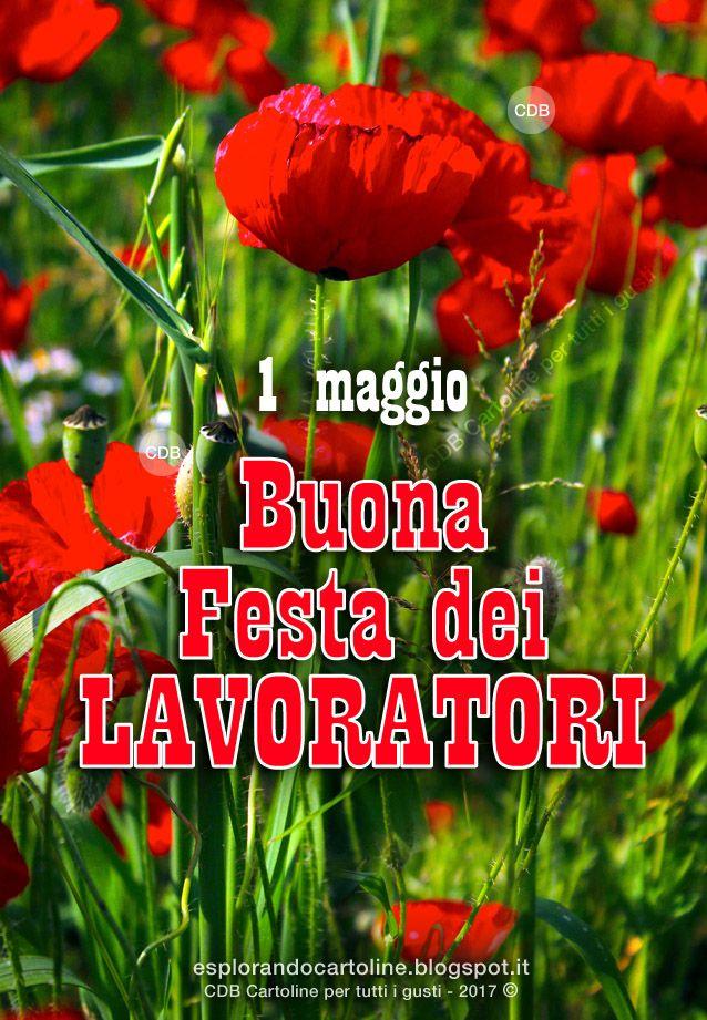 CDB CARTOLINE Compleanno per Tutti i Gusti! : Cartolina - 1 Maggio. Buona Festa dei Lavoratori -...