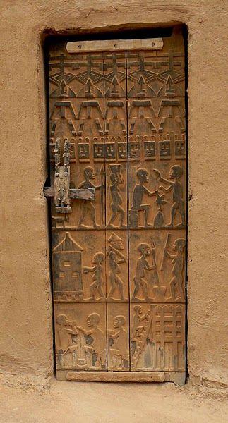 Africa | Dogon Door, Mali | Photographer ?