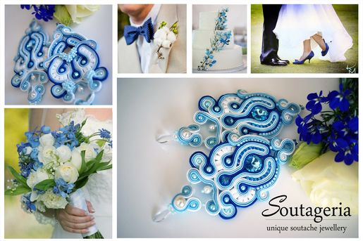 Ślubna inspiracja <3 (klik w zdjęcie po więcej) #soutache