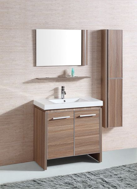"31"" Sink Vanity Set with Mirror and Side Cabinet"