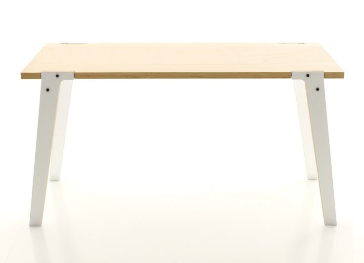 Table: white and wood.