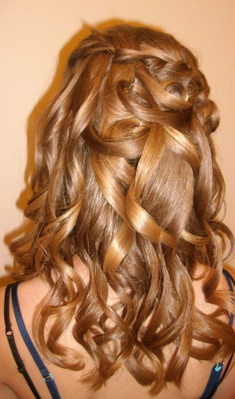 10th grad formal updo hair
