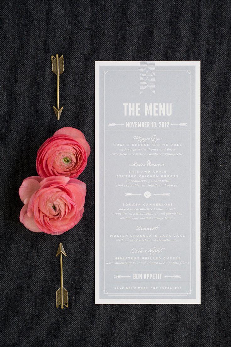 テーマカラーはセンスの見せどころ。結婚式のグレーのメニュー表まとめ一覧♡