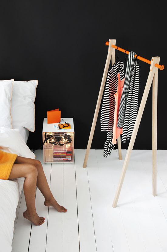 cute way to display your clothes for the next day