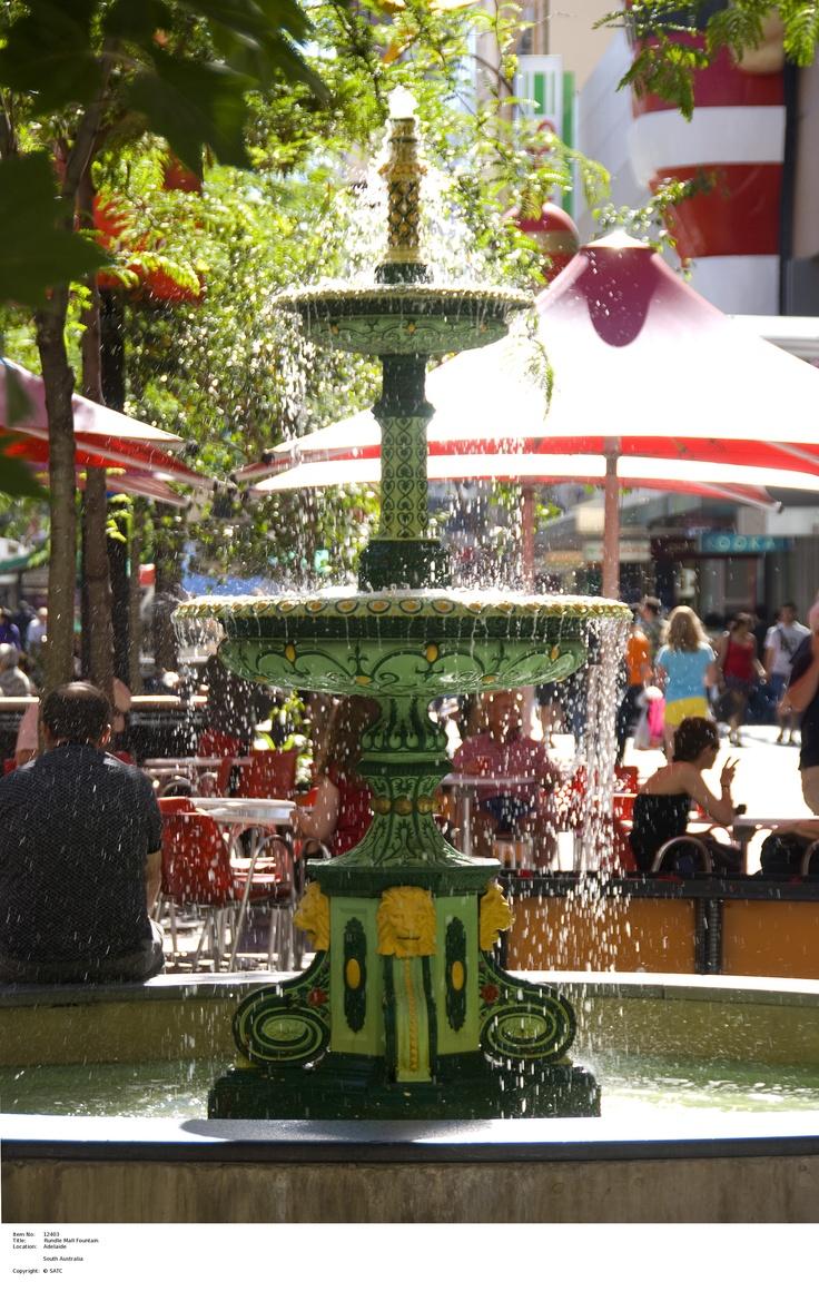 Rundle Mall fountain, make a wish!   Image Source: SA Tourism Commission.