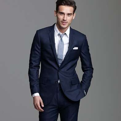 blue suits for the menfolk in the wedding? maybe i can convince them... :)