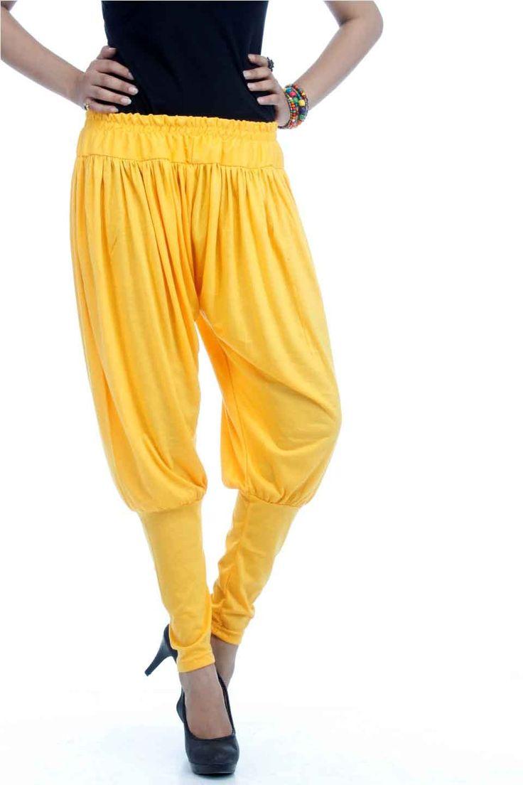 Adam n' eve Crome Yellow Jodhpuri Viscose Salwar @ Rs.399 only