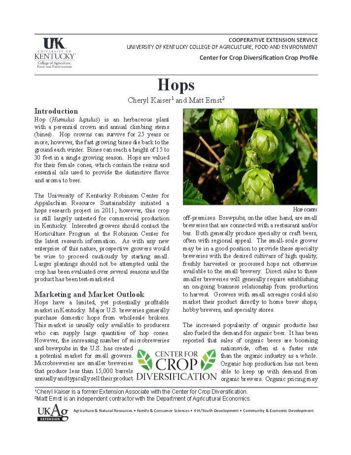 Hops | University of Kentucky