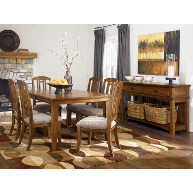 Kelvin Hall Rectangular Extension Table Dining Set With 2 Arm Chairs 6 Side By Signature Design Ashley