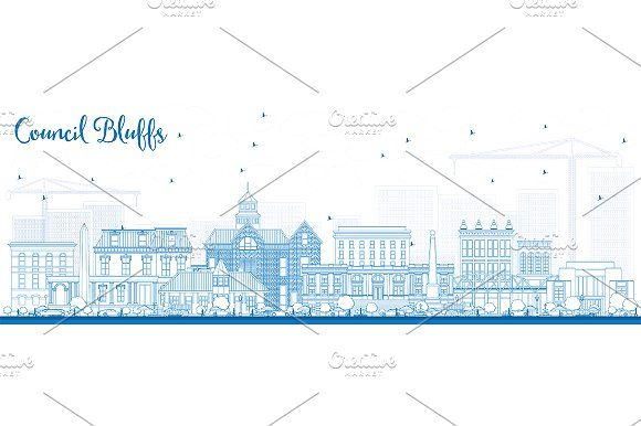 #Outline #Council #Bluffs #Iowa by Igor Sorokin on @creativemarket