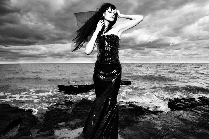 RMIT University student Vlad Savin's photography work depicts an emulation of a mermaid, awaiting to cast her spell upon the weary seamen #fashion #photography