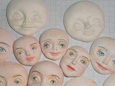 DIY МК лепка лица для ватной игрушки