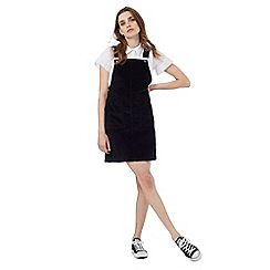 Red Herring - Navy cord pinafore
