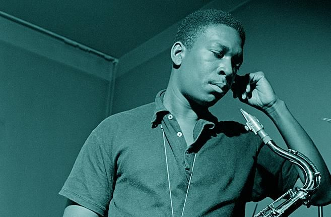 John Coltrane passed away 50 years ago today. (Image captured during his 'Blue Train' recording 1957)