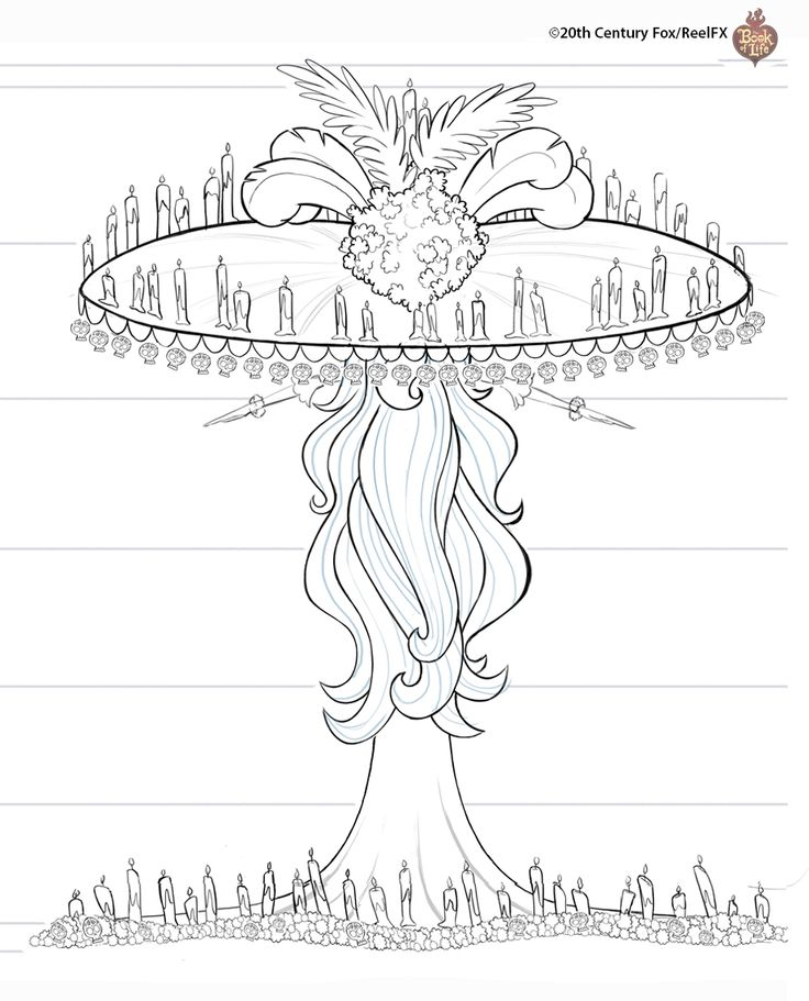 La Muerte Book Of Life Coloring Pages
